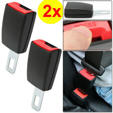 2pcs Black Universal Car Safety Seat Belt Extender Extension Buckle Lock Clip