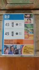 Genuine HP 45 Black Ink Cartridges 2 pack Twin expired March 2008 NOS