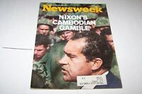 MAY 11 1970 NEWSWEEK magazine NIXON - CAMBODIA