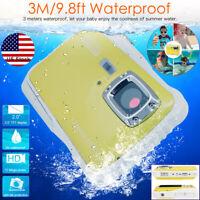 Kids Waterproof Digital Camera 12MP HD Video Camcorder LCD Display Underwater 3M