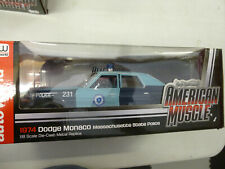DODGE MONACO POLICE 1974 MASSACHUSETTS--- 1/18 ERTL--AUTO WORLD