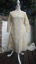 ALICE EDWARDS 1960s True vintage original lace coat cream nude dress jacket 6 8