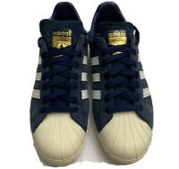 Adidas Limited Superstar 80s DLX Suede in Navy Blue/Vintage White Mens Size 8.5