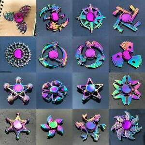 Hand Spinner Tri Fidget Spinner Metal Bearing Autism ADHD Relieves Stress Gift