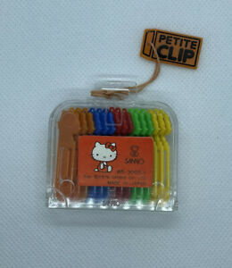 "Vintage Hello Kitty Petite Clip Sanrio 1976 Hair Clips 1.5"""