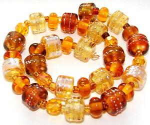 "Sistersbeads ""Topaz"" Handmade Lampwork Beads"