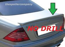 UNPAINTED REAR LIP SPOILER FOR 1999-2006 MERCEDES S-CLASS-NO DRILLING REQUIRED