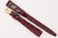 GROVANA Swiss Orologi Bracciale 12mm Pelle Vitello con imitazioni-Semianilina Bordeaux lunghezza: M