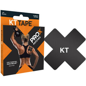 KT Tape Pro X Precut Kinesiology Therapeutic Elastic Sports Tape - 15 Patches