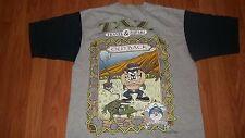 90's Vintage TASMANIAN DEVIL Outback Warner Bros cartoon Jersey Shirt Large TAZ