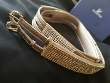 Swarovski Crystal Belt Gold/copper with silver/copper crystals
