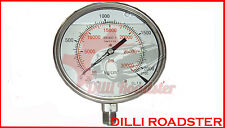 Pressure Gauge Gly 0-2000 BAR /0-30000 PSII Dual Scale,ideal for common rail