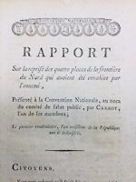 Rare Rapport Carnot 1794 Landrecies Quesnoy Condé Valenciennes Fleurus Scherer