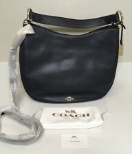 NWT Auth 36026 Coach Navy Leather Nomad Crossbody Hobo Bag MSRP $ 395.00