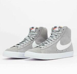 Nike Blazer Mid 77 Suede Light Smoke Grey CI1172-004 Unisex Shoes Sneakers