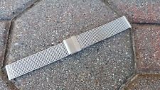18mm Silver Brushed Interchangeable EZ-PINS Stainless Steel Shark Mesh Band