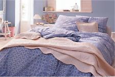 """Bettwäsche """"Blau"""" in Perkal-Qualität  Aus reiner Baumwolle  Übergröße: 155 x 220"""