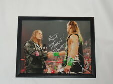 BRET THE HITMAN HART & SHAWN MICHAELS SIGNED FRAMED 11X14 WWF WWE PROOF