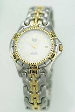 Dumont Saab Watch Mens Stainless Silver Gold Steel Date 200m White Diver Quartz