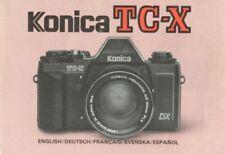 Konica TC-X Instruction Manual multi-language Original