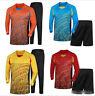 7754Men GK Soccer Training Kit Football Goalkeeper Padded Jersey+Trousers/Shorts