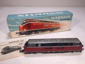Vintage 1950's Märklin 3021 DB V200056 Locomotive HO Model Train Engine in Box