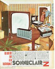 PUBLICITE ADVERTISING 115  1966  SONNECLAIR  technique Z  tv radio magnétophone