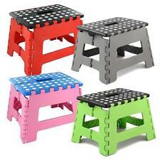 Plastic Multi Purpose Folding Step Stool Home Kitchen Foldable Easy Storage CV