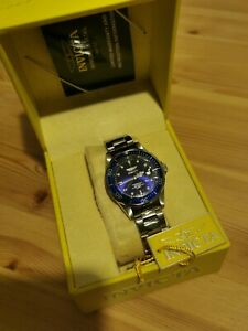 Invicta 9204 Pro Diver 200M Quartz Blue Dial Stainless Watch