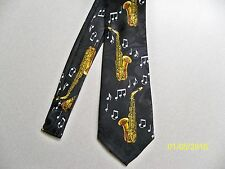 Saxophone, Sax, w/ notes, music, concert, Jazz, Band, men's neck tie #1 New!!