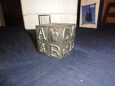 Alphabet block bank with original stopper