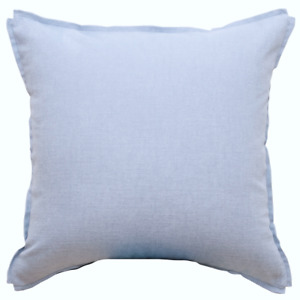 SALE Light blue throw pillow cover Soft Textured 100% Cotton Piped Toss Cushion