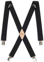 Dickies Mens 1-1/2 Solid Straight Clip Suspender,Black,