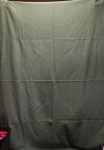 "Vintage US Army Military Green Wool Blanket Bed  66"" x 84"""