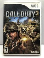 Call of Duty 3 (Nintendo Wii, 2006) Complete w/ Manual - Tested Working