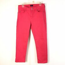 "NYDJ Alisha Ankle Jeans Size 8 Petite Coral Reef Pink 26"" Inseam"