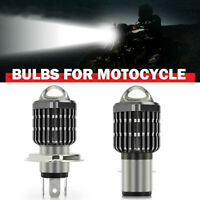H4 H6 BA20D Motorcycle Cool White Headlight LED Hi-Lo Beam Light Lamp Bulb