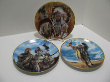 American Indian Heritage Collector Plates by Paul Calle, Franklin Mint, Set of 3