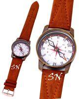 Vintage Brass Watch Style Compass Vintage Brass Antique Collectible Item