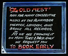 Magic Lantern Slide THE OLD NEST C1921 MOVIE ADVERT AMERICAN SILENT FILM