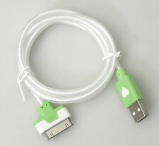 PRL) CAVO LUMINOSO USB CABLE iPHONE iPH. 4 MOBILE PHONE 1 MT TELEFONO CELLULARE