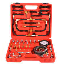 BenzinDruck prüfer Drucktester Kompression Messer KFZ Werkzeug 0-10 Bar