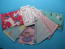 Dollhouse Miniature Wholesale Lot of 6 Tiny Print Crib Blankets
