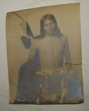 Antique Native American Original Big Photo Frank Rinehart Signed Autograph 1900s