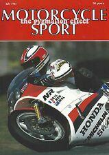 Motorcycle Sport Magazine July 1987 - BMW K100LT XL Honda XL600V Transalp