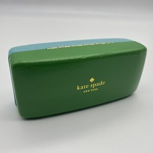 Kate Spade Green & Turquoise Sunglass Eyeglass Case Hard Shell Eye Glass Case
