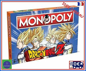 Jeu Societe Monopoly Dragon Ball Z Version Francaise Mangas Culte SonGoku Vegeta