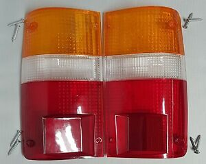 FIT 89-95 TOYOTA HILUX MK3 LN RN PICKUP TAIL REAR LIGHT LAMP LENS 4 SCREW(2 Pcs)