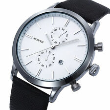 Men's Watch Waterproof Leather Stainless Steel Date Analog Quartz Watches Eager