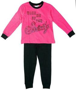 Girls Strictly Come Dancing Pyjamas Kids Nightwear Long Sleeve Pink